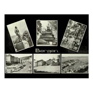Bergen, Vintage multiview Postcard