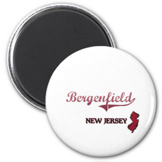 Bergenfield New Jersey City Classic 2 Inch Round Magnet