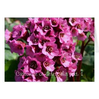 Bergenia Blossom; Customizable Card