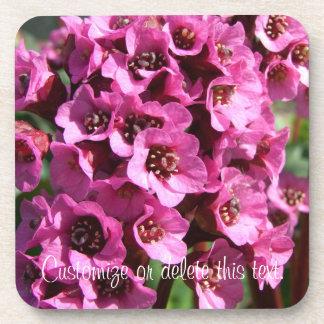 Bergenia Blossom; Customizable Coaster