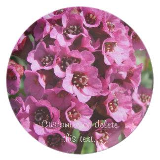 Bergenia Blossom; Customizable Dinner Plate