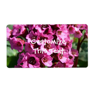 Bergenia Blossom Label