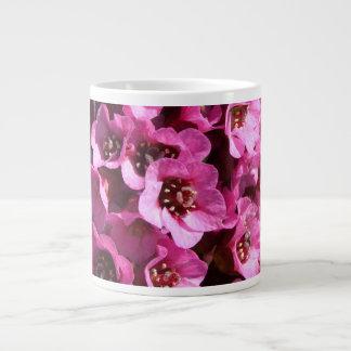 Bergenia Blossom; No Text Large Coffee Mug