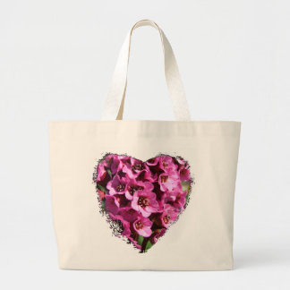 Bergenia Blossom; No Text Large Tote Bag