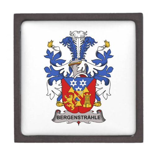 Bergenstrahle Family Crest Premium Trinket Boxes