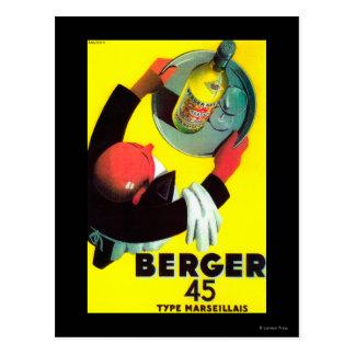 Berger 45 Vintage PosterEurope Postcard