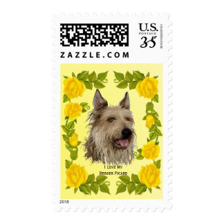 Berger Picard and Yellow Roses Postage