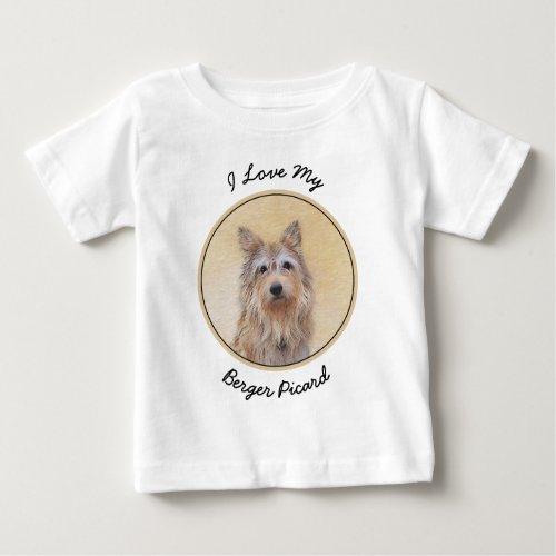 Berger Picard Painting _ Cute Original Dog Art Baby T_Shirt