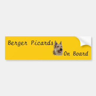 Berger Picards On Board Car Decal Bumper Sticker