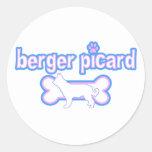 Berger rosado y azul Picard Etiqueta Redonda