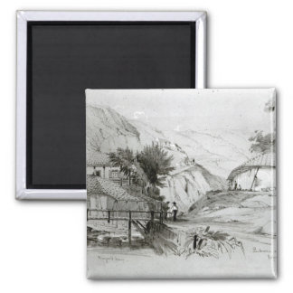 Berger's House, Valparaiso, 1834 2 Inch Square Magnet