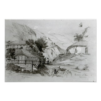 Berger's House, Valparaiso, 1834 Poster