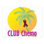 Bergundy Ribbon - Camp Chemo Post Cards