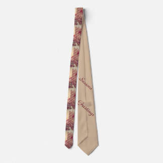 Beribboned Holiday Candle Neck Tie