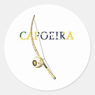 Berimbau Capoeira Pegatina Redonda