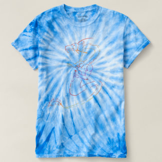 Berimbau dragon tie-dyed t-shirt