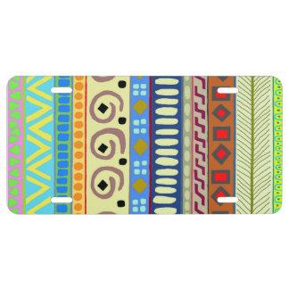 Berimbau Tribal Design License Plate