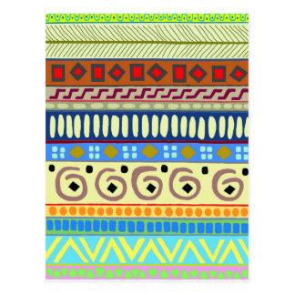 Berimbau Tribal Design Post Card