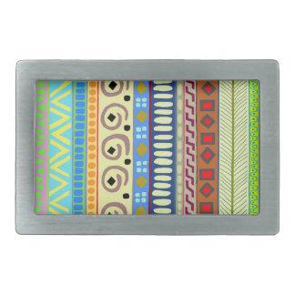 Berimbau Tribal Design Silver Belt Buckle