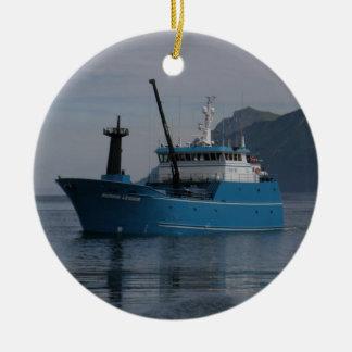 Bering Leader, Longliner in Alaska Ceramic Ornament