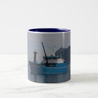 Bering Leader, Longliner in Dutch Harbor, AK Two-Tone Coffee Mug
