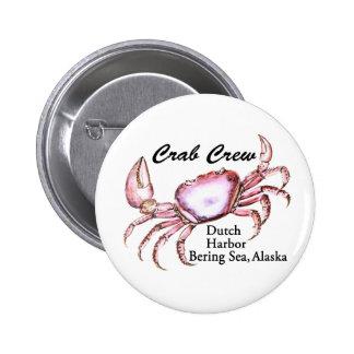 Bering Sea Alaska Crab Fishing Button