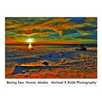 Bering Sea Coast. Nome, Alaska Postcard