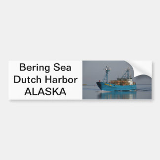 Bering Sea, Crab Boat in Dutch Harbor, AK Bumper Sticker