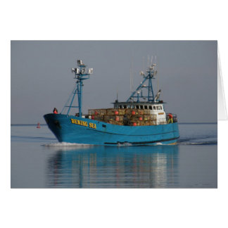 Bering Sea, Crab Boat in Dutch Harbor, AK Card