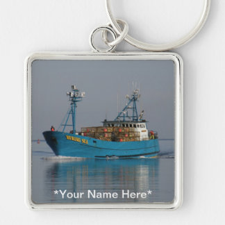 Bering Sea, Crab Boat in Dutch Harbor, AK Keychain