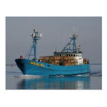 Bering Sea, Crab Boat in Dutch Harbor, AK Postcard
