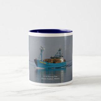 Bering Sea, Crab Boat in Dutch Harbor, AK Two-Tone Coffee Mug