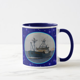 Bering Sea, Crab Boat in Dutch Harbor, Alaska Mug