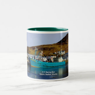 Bering Sea, Crab Boat in Dutch Harbor, Alaska Two-Tone Coffee Mug