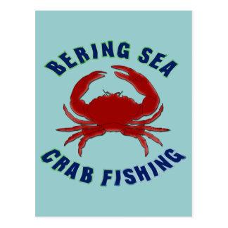 Bering Sea Crab Fishing Postcard