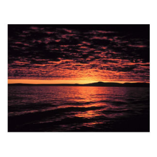 Bering Sea Sunset Postcard