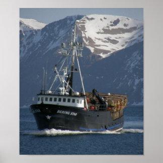 Bering Star, Crab Boat in Dutch Harbor, Alaska Poster