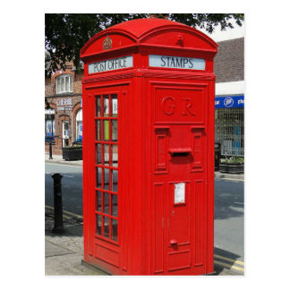 Beritish telephone box postcard
