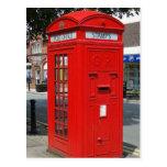 Beritish telephone box postcards