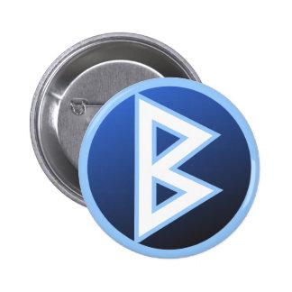 Berkana Beorc Rune Button