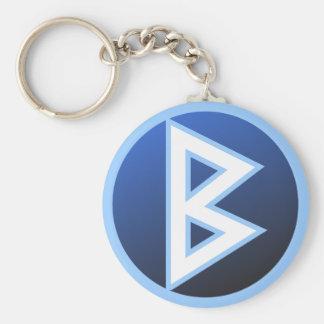 Berkana Beorc Rune Keychain