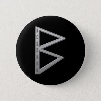 Berkano Rune grey Button