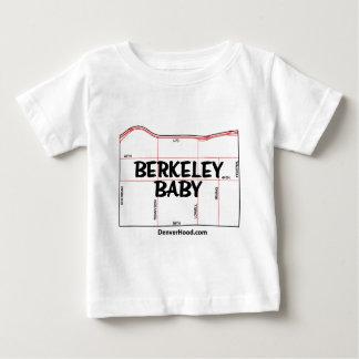 Berkeley Baby Neighborhood Map - Black Text Baby T-Shirt