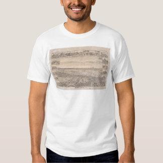 Berkeley, CA. Panoramic Map 1891 (0099A) -Restored Tee Shirt