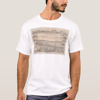 Berkeley, CA. Panoramic Map 1891 (0099A) - Unrest. T-Shirt
