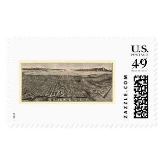 Berkeley, CA Panoramic Map - 1909 Stamp
