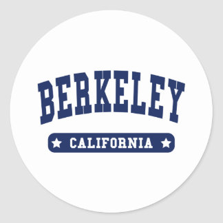 Berkeley California College Style t shirts Round Stickers