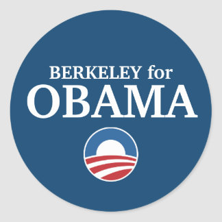 BERKELEY for Obama custom your city personalized Classic Round Sticker
