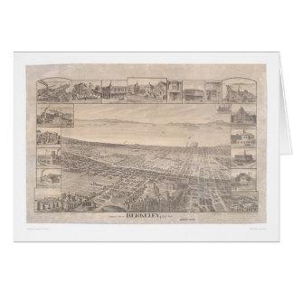 Berkeley, mapa panorámico 1891 (0099A) del CA - Tarjeta De Felicitación