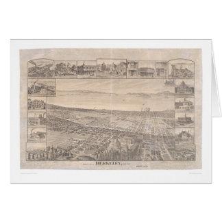 Berkeley, mapa panorámico 1891 (0099A) - malestar Tarjeta De Felicitación